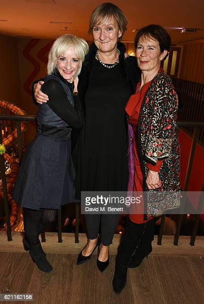 Jane Horrocks director Deborah Warner and Celia Imrie attend the press night after party celebrating The Old Vic's production of King Lear at the Ham...