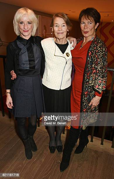 Jane Horrocks Glenda Jackson and Celia Imrie attend the press night after party celebrating The Old Vic's production of King Lear at the Ham Yard...