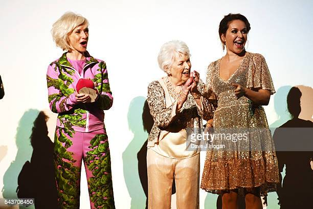 Jane Horrocks June Whitfield and Julia Sawalha attend the World Premiere of Absolutely Fabulous The Movie at Odeon Leicester Square on June 29 2016...