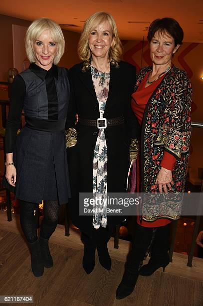 Jane Horrocks Sally Greene and Celia Imrie attend the press night after party celebrating The Old Vic's production of 'King Lear' at the Ham Yard...