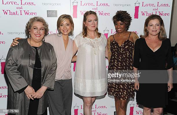Jane Houdyshell Allison Mack Kristine Nielsen Adriane Lenox and Kate Mulgrew attend the 'Love Loss And What I Wore' new cast member celebration at 44...