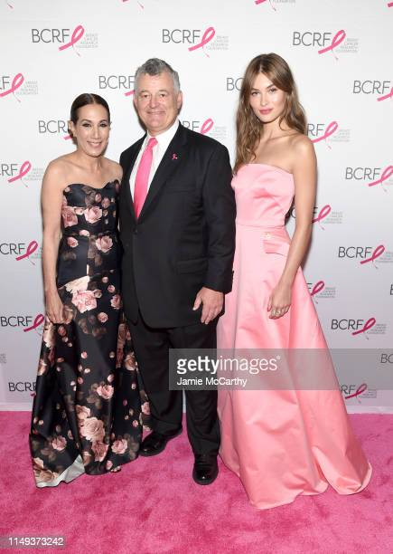 Jane Hudis William P Lauder and Grace Elizabeth attend the Hot Pink Party hosted by the Breast Cancer Research Foundation at Park Avenue Armory on...