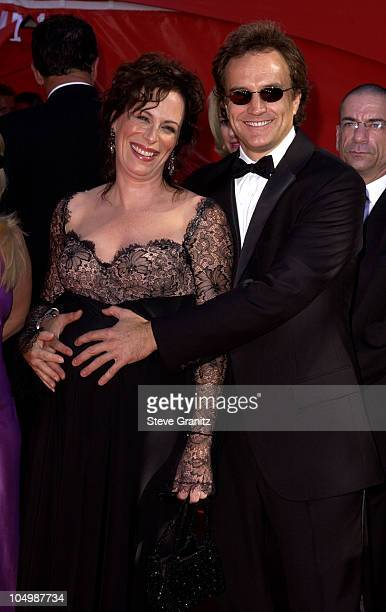 Jane Kaczmarek and Bradley Whitford during The 54th Annual Primetime Emmy Awards Arrivals at The Shrine Auditorium in Los Angeles California United...