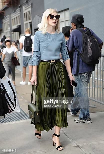 Jane Keltner de Valle is seen outside the DVF show during New York Fashion Week 2016 on September 13 2015 in New York City