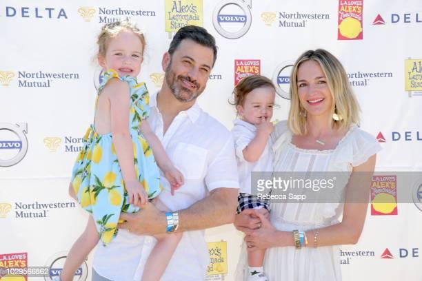 Jane Kimmel TV host Jimmy Kimmel Billy Kimmel and Molly McNearney attend 2018 LA Loves Alex's Lemonade at UCLA Royce Quad on September 8 2018 in Los...