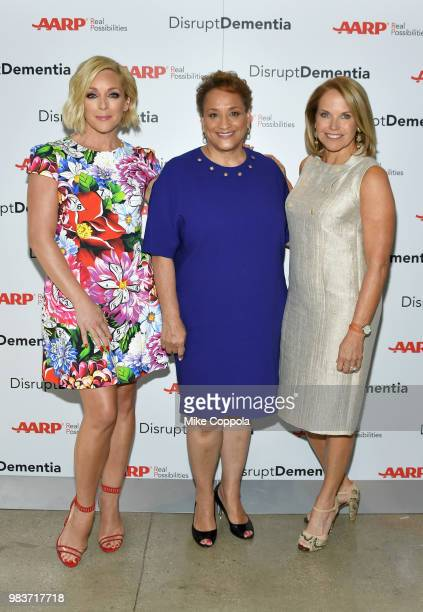 Jane Krakowski AARP COO Scott Frisch Katie Couric and AARP CEO Jo Ann Jenkins attend a brain health event hosted by AARP featuring Katie Couric Jane...