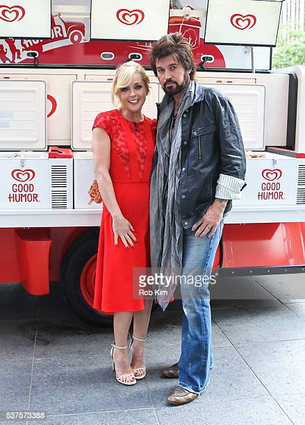 Jane Krakowski and Billy Ray Cyrus appear on a segment of Fox Friends at FOX Studios on June 2 2016 in New York City