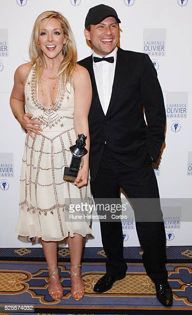 Jane Krakowski and Christian Slater attend the Laurence Olivier Awards at the HiltonPark Lane