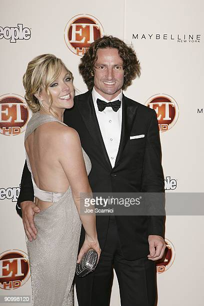 Jane Krakowski and date arrives at Vibiana for the 13th Annual Entertainment Tonight and People magazine Emmys After Party on September 20, 2009 in...