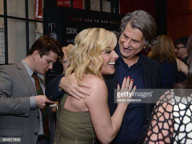 Jane Krakowski and David Rockwell arrive at A Toast To The 2016 Tony Awards Creative Arts Nominees at The Lambs Club on May 24 2016 in New York City