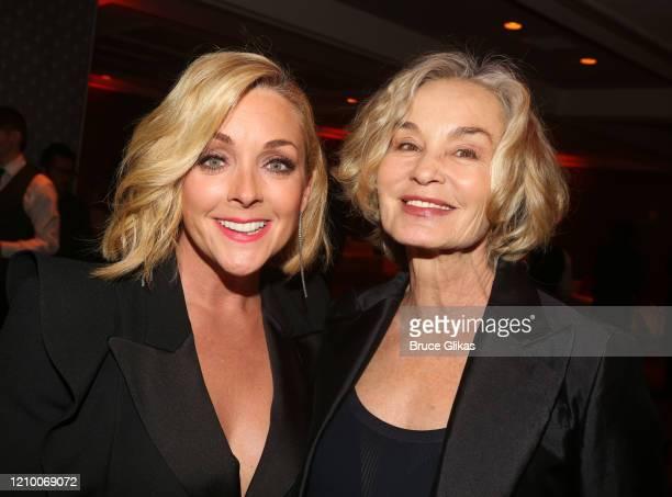 Jane Krakowski and Jessica Lange pose at the 2020 Roundabout Theater Gala honoring Alan Cumming, Michael Kors & Lance LePere at The Ziegfeld Ballroom...