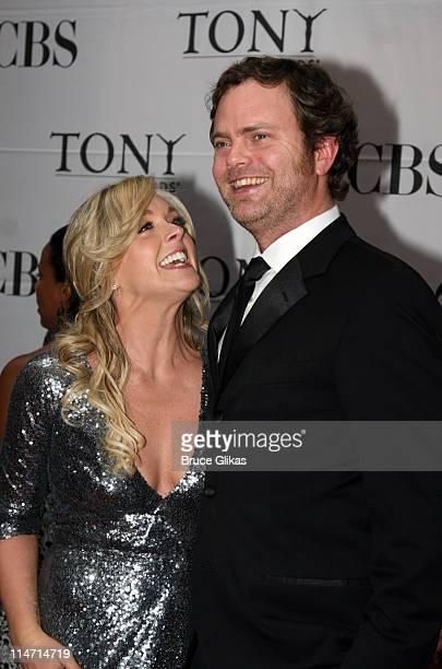 Jane Krakowski and Rainn Wilson during 61st Annual Tony Awards Arrivals at Radio City Music Hall in New York City New York United States