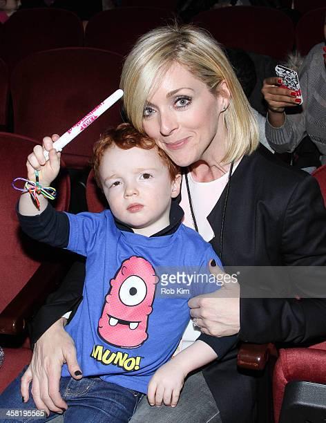 Jane Krakowski and son attend 'Yo Gabba Gabba Live' at The Beacon Theatre on December 20 2013 in New York City