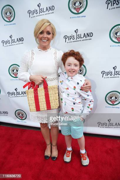 "Jane Krakowski and son Bennett Robert Godley pose at the opening night celebration for ""Pip's Island"" benefiting the Hole in the Wall Gang Camp at..."