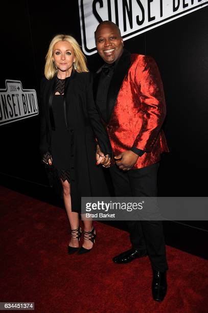 Jane Krakowski and Tituss Burgess and attends Andrew Lloyd Webber's SUNSET BOULEVARD Opens On Broadway Starring Glenn Close on February 9 2017 in New...