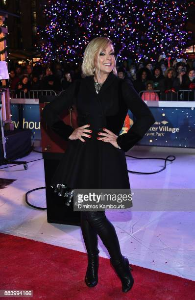 Jane Krakowski attends the Bank of America Winter Village at Bryant Park's Annual Tree Lighting Skatetacular on December 1 2017 in New York City