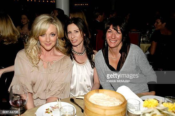 Jane Krakowski Carole Radziwill and Ghislaine Maxwell attend NICOLE MILLER's 25th Anniversary honoring Riverkeeper at Chinatown Brasserie on April 24...