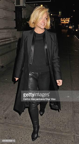 Jane Krakowski is seen on October 17 2015 in New York City