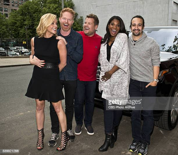 Jane Krakowski Jesse Tyler Ferguson Audra McDonald and LinManuel Miranda join James Corden for Carpool Karaoke on 'The Late Late Show with James...