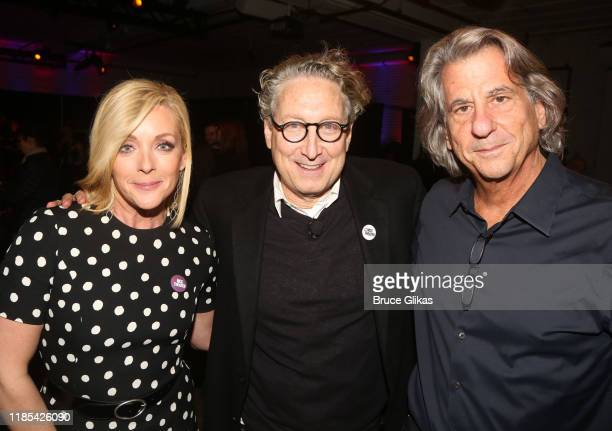 Jane Krakowski MCC Artistic Director Bernard Telsey and David Rockwell pose at MCC Theater's Inaugural AllStar Let's Play Celebrity Game Night at The...