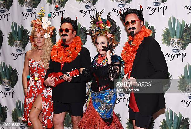 Jane Krakowski Michael Kors Bette Miidler and Lance LePere attend 2015 Hulaween Party Celebrating New York Restoration Project's 20th Anniversary at...