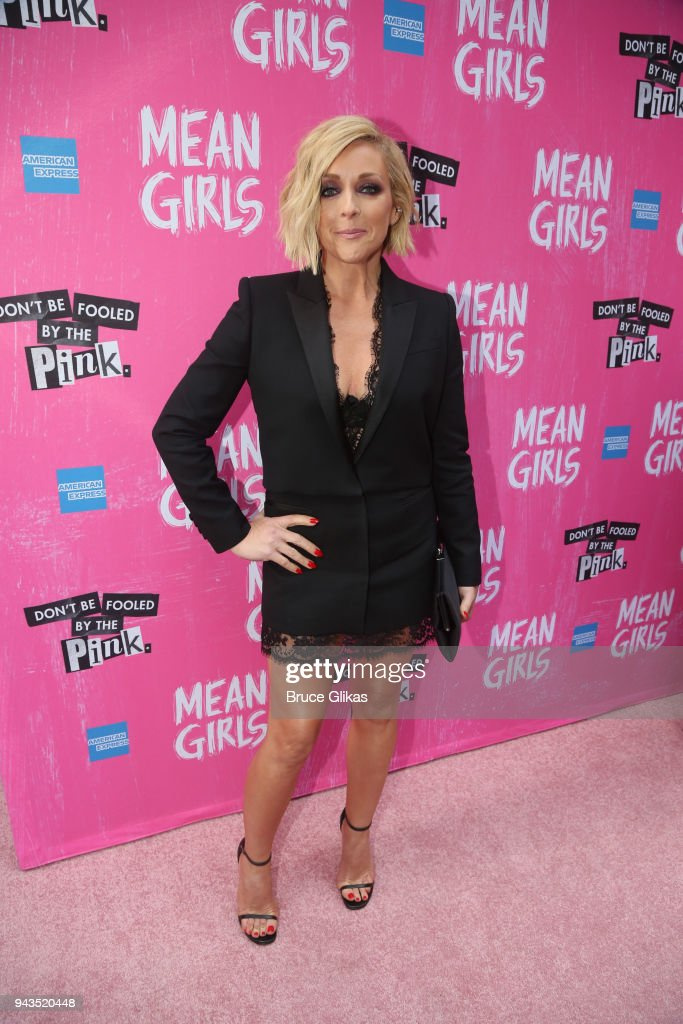 Jane Krakowski poses at the arrivals for the openng night of the new musical based on the cult film 'Mean Girls' on Broadway at The August Wilson Theatre on April 8, 2018 in New York City.
