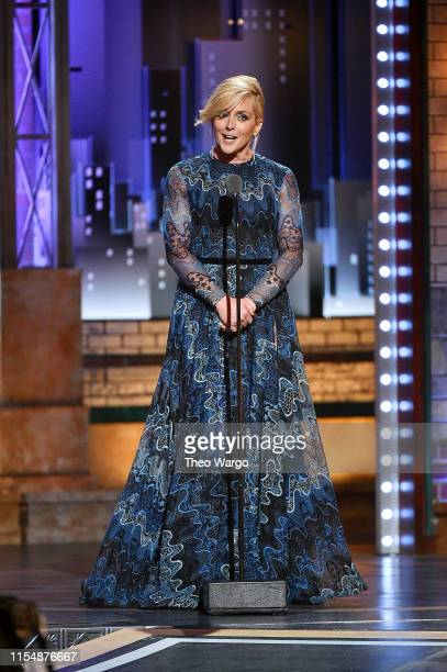 Jane Krakowski presents an award onstage during the 2019 Tony Awards at Radio City Music Hall on June 9, 2019 in New York City.