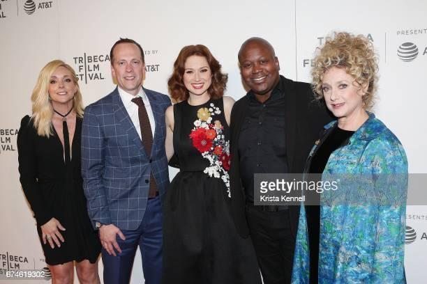 Jane Krakowski Robert Carlock Ellie Kemper Tituss Burgess and Carol Kane at attend the Unbreakable Kimmy Schmidt Screening during 2017 Tribeca Film...