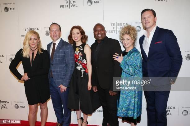 Jane Krakowski Robert Carlock Ellie Kemper Tituss Burgess Carol Kane and Willie Geist attend Unbreakable Kimmy Schmidt Screening during 2017 Tribeca...