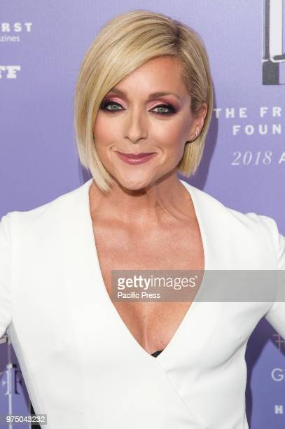 Jane Krakowski wearing dress by David Koma attends 2018 Fragrance Foundation Awards at Alice Tully Hall at Lincoln Center