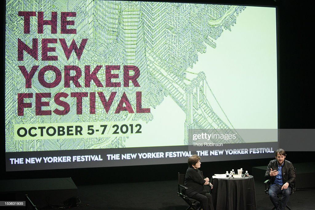 Jane Kramer and chef Rene Redzepi attend The New Yorker Festival 2012 - In Conversation - Rene Redzepi And Jane Kramer at SVA Theatre on October 7, 2012 in New York City.