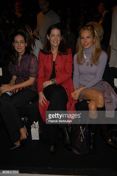 Jane Lauder Tara Rockefeller and Valesca GuerrandHermes attend Carolina Herrera Fall 2006 Fashion Show at The Tent at Bryant Park on February 6 2006...