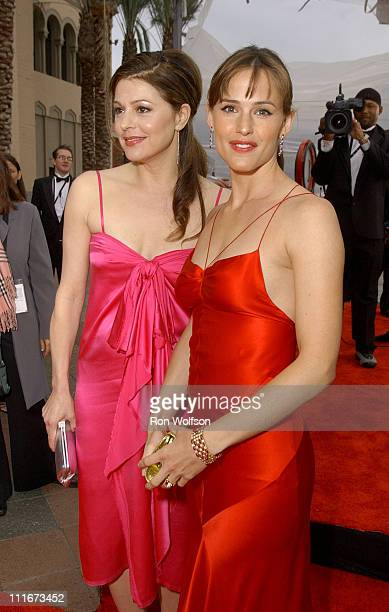 Jane Leeves and Jennifer Garner during 10th Annual Screen Actors Guild Awards Red Carpet at Shrine Auditorium in Los Angeles California United States