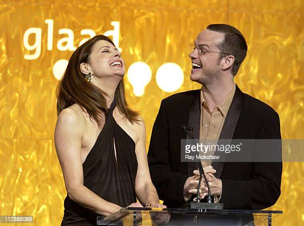 Jane Leeves and Peter Paige during The 14th Annual GLADD Media AwardsShow at Kodak Theater in Hollywood California United States