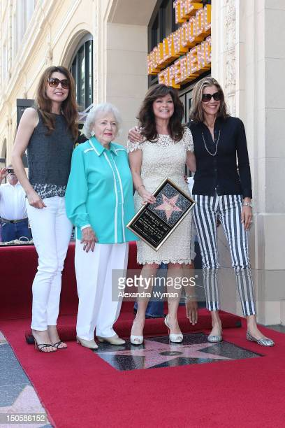 Jane Leeves Betty White Valerie Bertinelli and Wendie Malick at Valerie Bertinelli's Star Ceremony held On The Hollywood Walk Of Fame on August 22...