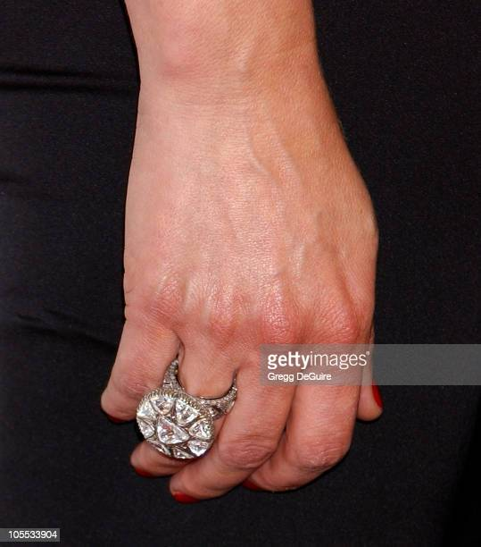 Jane Leeves ring during 2005 BAFTA/LA Cunard Britannia Awards Arrivals at Beverly Hilton Hotel in Beverly Hills California United States