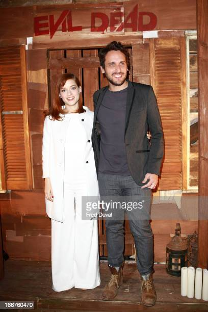Jane Levy and Fede Alvarez attend the Evil Dead screening at Ritzy Picturehouse on April 16 2013 in London England