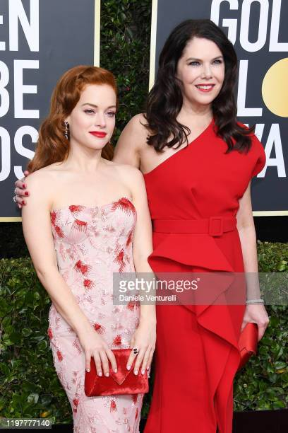 Jane Levy and Lauren Graham attend the 77th Annual Golden Globe Awards at The Beverly Hilton Hotel on January 05 2020 in Beverly Hills California