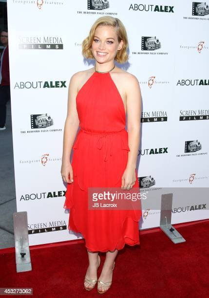 Jane Levy attends the 'About Alex' Los Angeles premiere held at the Arclight Theater on August 6 2014 in Hollywood California