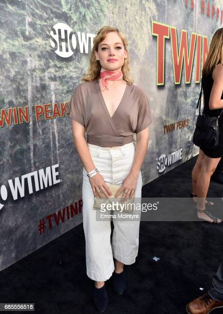 Jane Levy attends the premiere of Showtime's 'Twin Peaks' at The Theatre at Ace Hotel on May 19 2017 in Los Angeles California