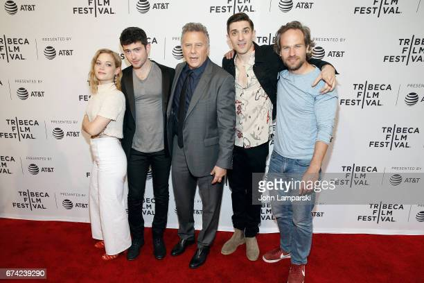 jane Levy Ian Nelson Paul Reiser Andrew Schultz and David Hoffman attend 'There'sJohnny' during the 2017 Tribeca Film Festival at SVA Theatre on...