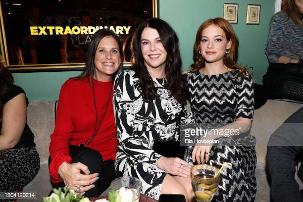 Jane Levy Lauren Graham and Lisa Katz at Tramp Stamp Granny's on February 04 2020 in Los Angeles California