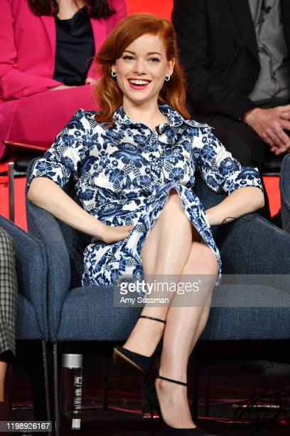 Jane Levy of Zoey's Extrodinary Playlist speaks during the NBCUniversal segment of the 2020 Winter TCA Press Tour at The Langham Huntington Pasadena...