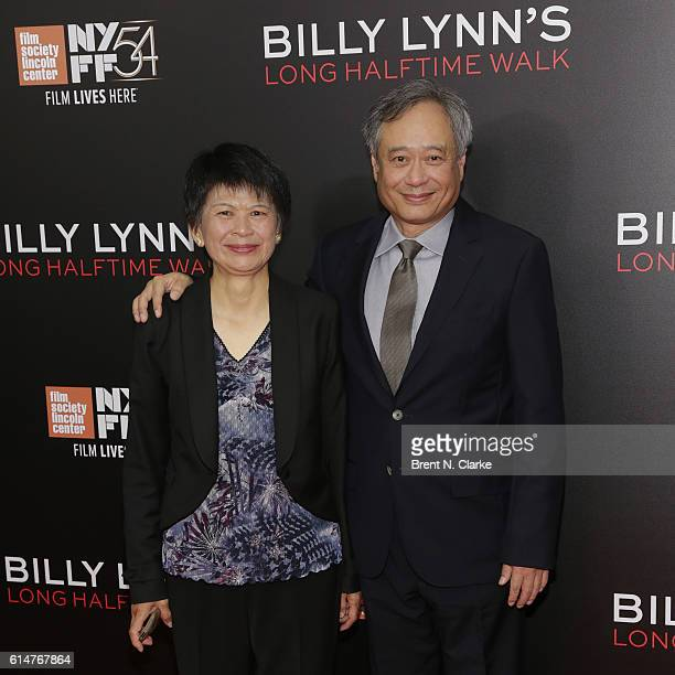 Jane Lin and director Ang Lee attend the 54th New York Film Festival 'Billy Lynn's Long Halftime Walk' premiere held at AMC Lincoln Square Theater on...