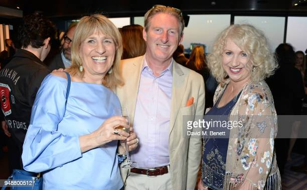 Jane Lush Adrian Dunbar and Anne Morrison attend the BAFTA TV Awards Nominees' Party at Mondrian London on April 19 2018 in London England