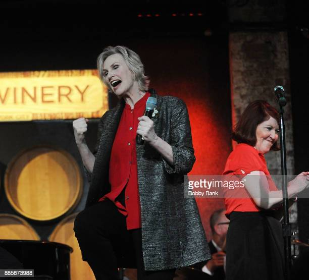 Jane Lynch and Kate Flannery perform at Jane Lynch's 'Swingin Little Christmas' at City Winery on December 4 2017 in New York City