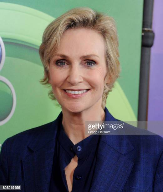 Jane Lynch arrives at the 2017 Summer TCA Tour NBC Press Tour at The Beverly Hilton Hotel on August 3 2017 in Beverly Hills California