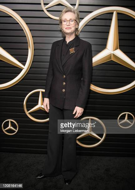 Jane Lynch arrives at the 2020 MercedesBenz Annual Academy Viewing Party at Four Seasons Los Angeles at Beverly Hills on February 09 2020 in Los...