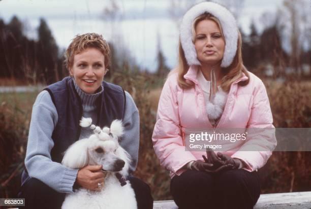 Jane Lynch as Christy Cummings left and Jennifer Coolidge as Sherri Ann Ward with Rhapsody In White star in Castle Rock Entertainment's film Best In...