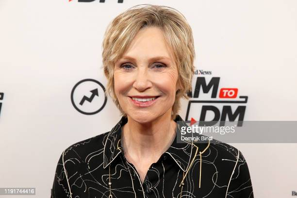 Jane Lynch attends BuzzFeed's AM To DM on December 03 2019 in New York City